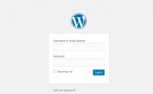 login to wordpress website