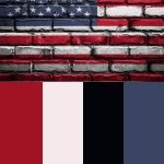 red white and blue color scheme for american pride