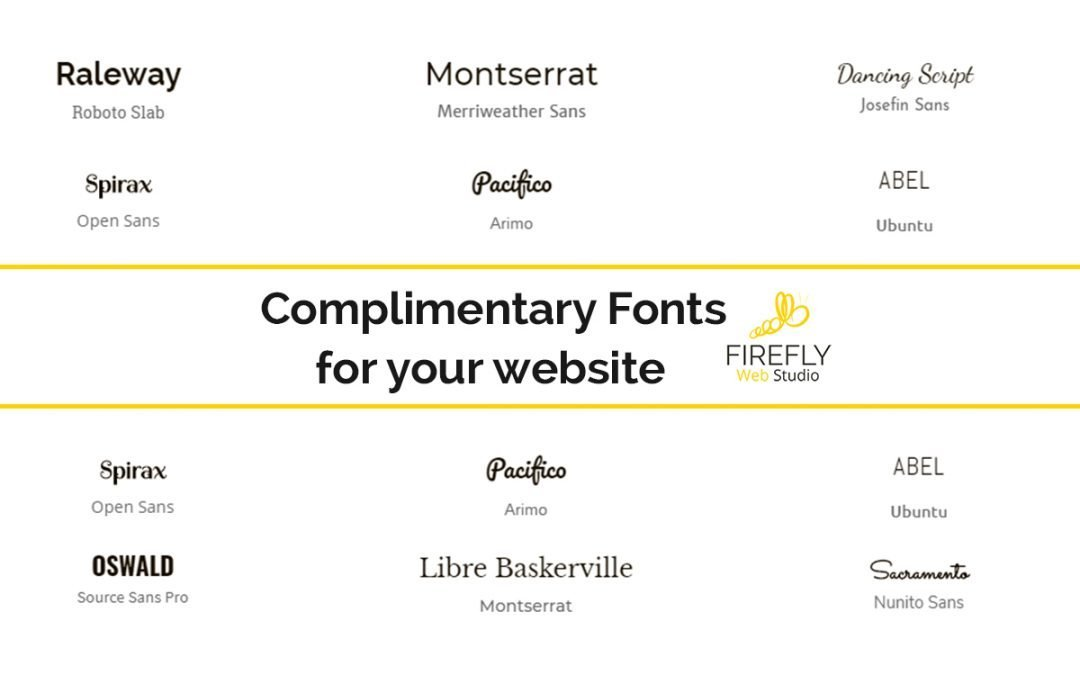 How To Choose Your Complimentary Fonts For Web Design