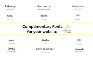 complimentary fonts for web design