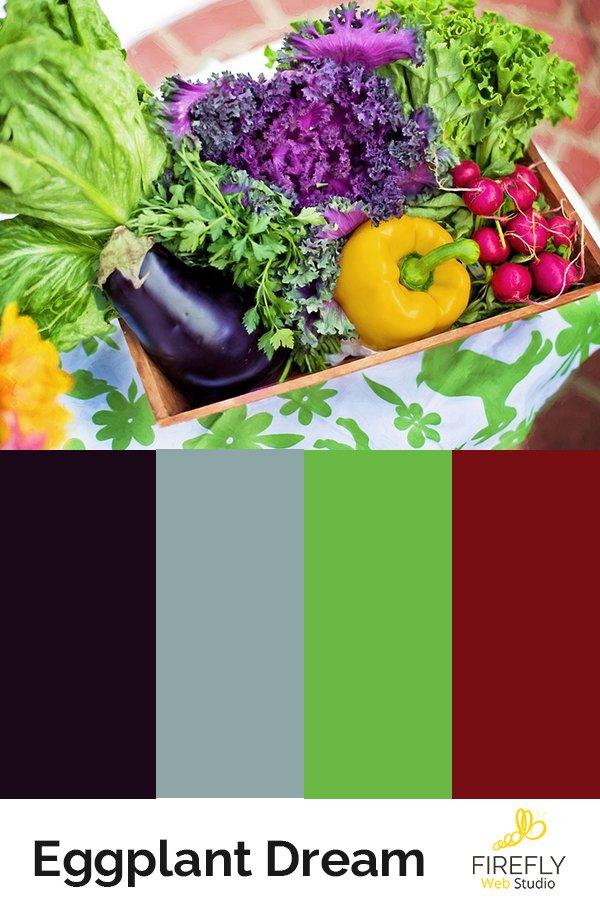 eggplant based color scheme for farmers market
