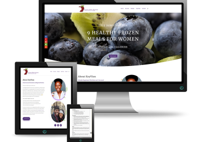 Custom Nutritionist Website | The Miller's Kitchen
