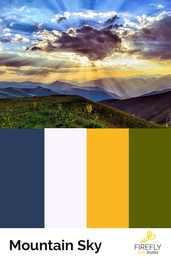 mountain color scheme for new website