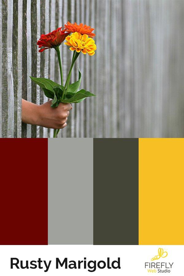 summery flower color scheme for new website