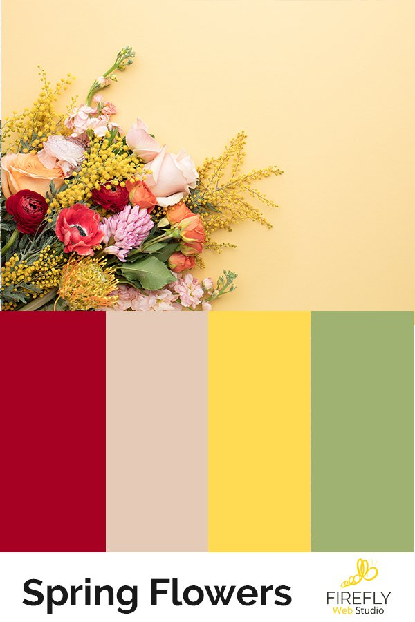 perfect spring color scheme for new website