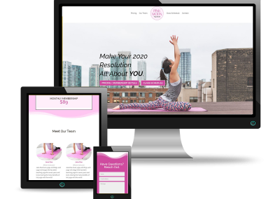 Custom Yoga Website | Pink Moon Studios