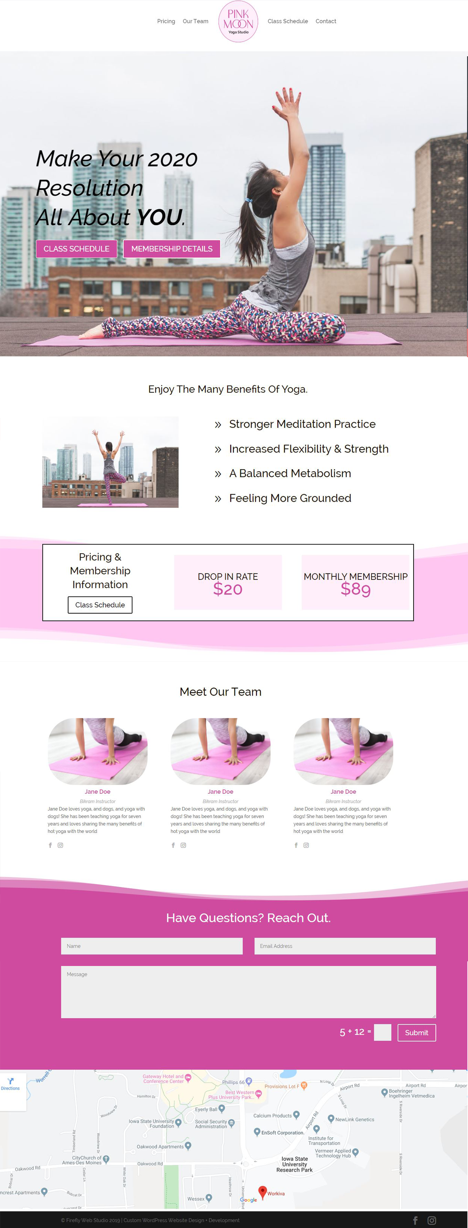Custom Portfolio Website
