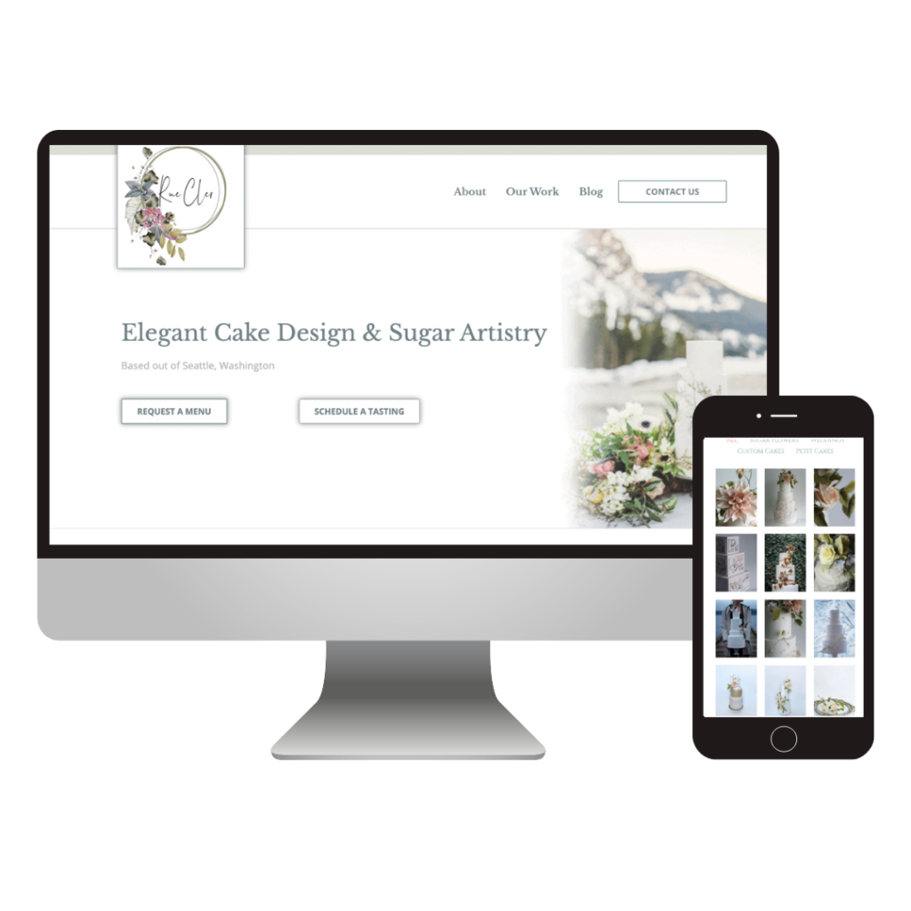 Rue Cler Seattle – Custom Wedding Cake Designer Website