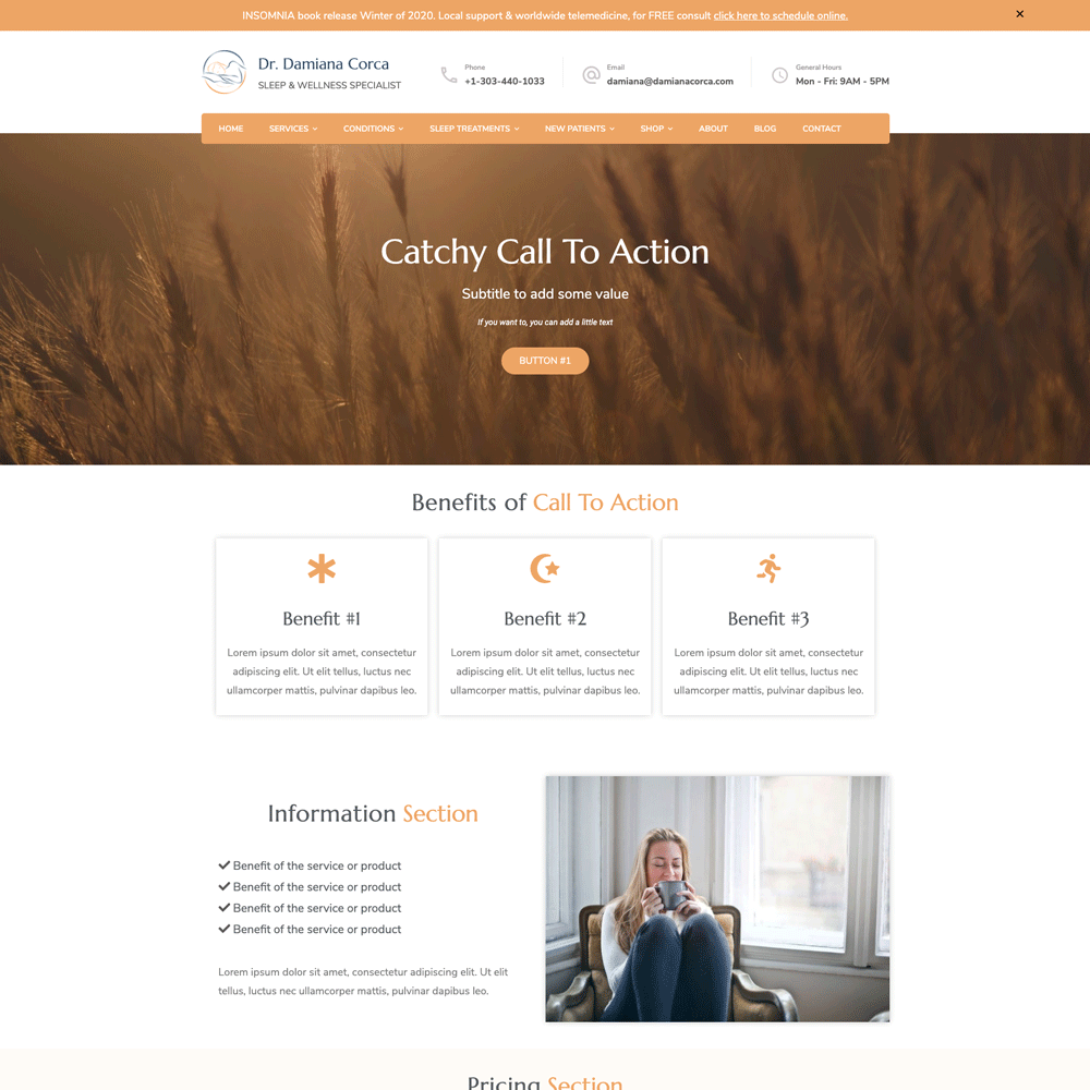 Damiana Corca | Custom Landing Page