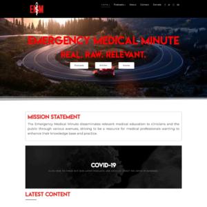 Emergency Medical Minute   Custom Podcast Website