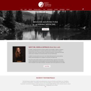 Red Aspen Wellness   Custom Acupuncture Website