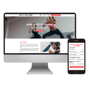 personal trainer website design - molly gallaher