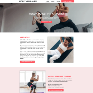 Molly Gallaher Training   Personal Trainer Website Design