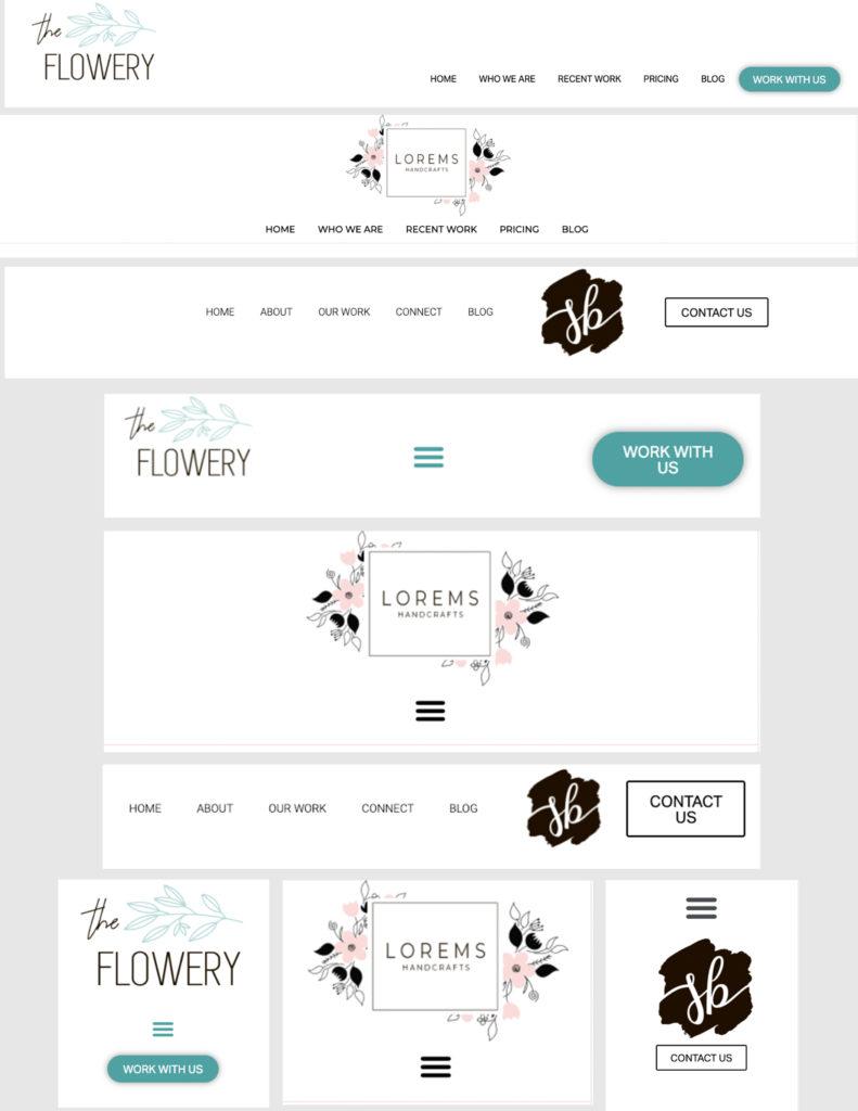 3 Elementor Header Templates by Firefly Web Studio