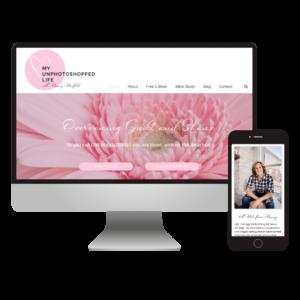 My Unphotoshopped Life | Custom Blogging Website