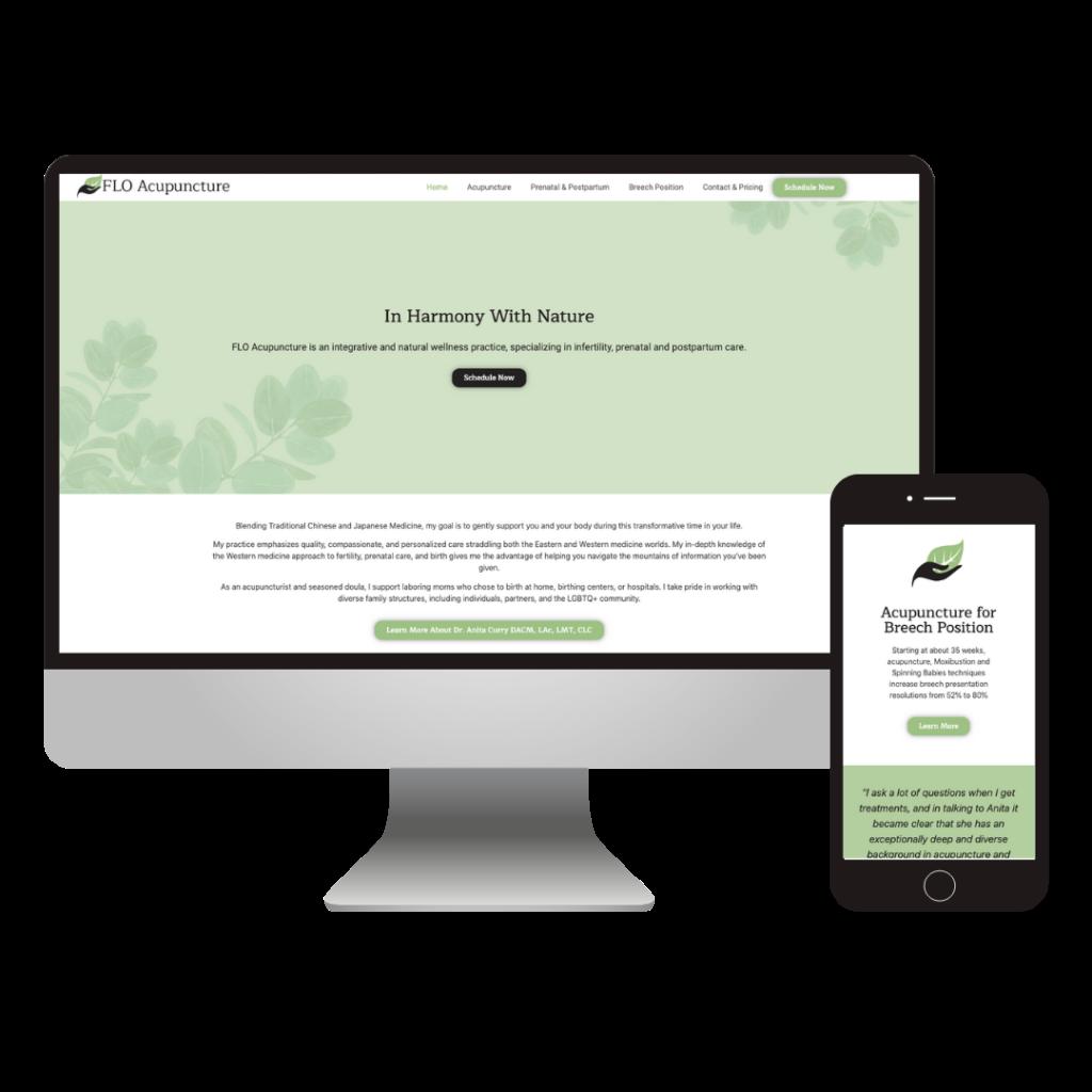 acupuncture website design | Flo Acupuncture