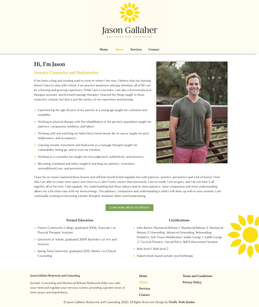 about page for counseling website