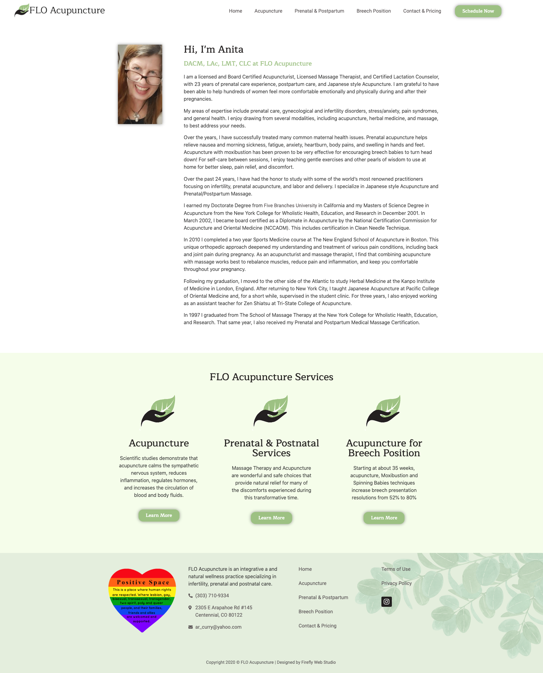 about page for acupuncture website