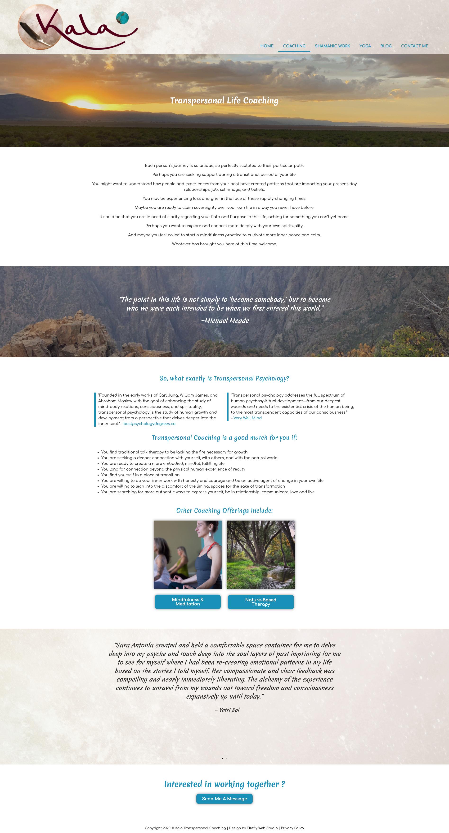 Custom coaching website design