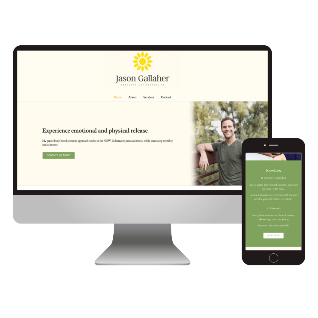 jason gallaher - bodywork and counseling website design