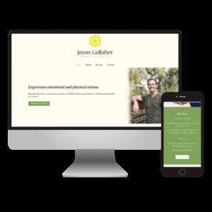 jason gallaher - bodywork and counseling website design